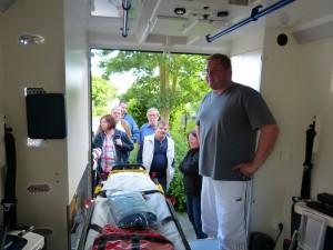 Blick in den ASB Rettungswagen